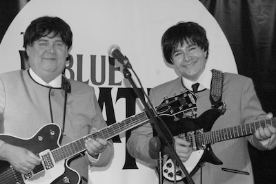 The Blue Beatles Duo in Black and White
